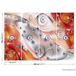 Fotótapéta Narancssárga virágos gyémánt 3D XL