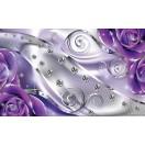 Fotótapéta lila virágos gyémánt 3D L