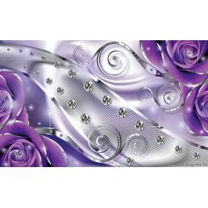 Fotótapéta lila virágos gyémánt 3D XL