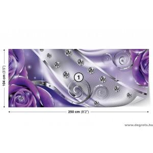 Fotótapéta lila virágos gyémánt 3D S Vlies