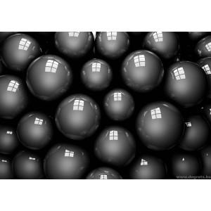 Fotótapéta fekete labdák  3D