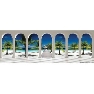 Fotótapéta Egzotikus tengerpart 3D panoráma  Vlies