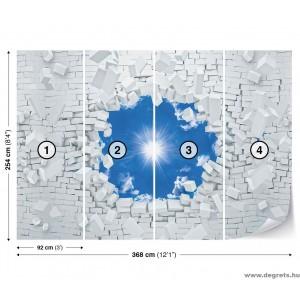 Fotótapéta kék ég 3D XL