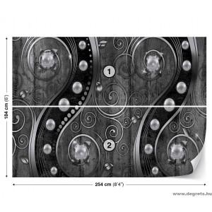 Fotótapéta Forgószél- fekete-fehér 3D