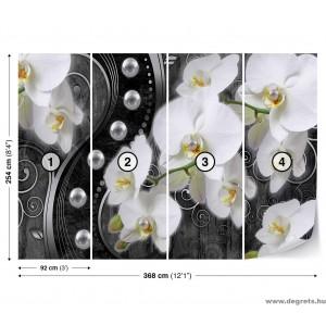 Fotótapéta absztrakció orchideák 6 3D XL