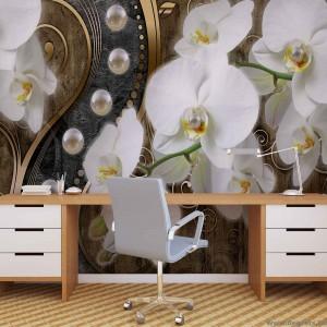 Fotótapéta absztrakció orchideák 7 3D XL