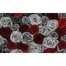 Fotótapéta rózsák piros-szürke XL