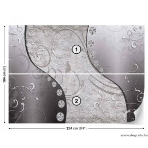 Fotótapéta szürke gyémánt 3D