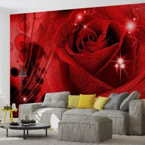 Fotótapéta rózsa 3D absztrakció
