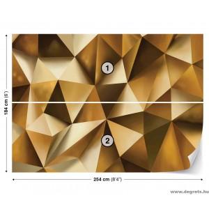 Fotótapéta absztrakció arany 3D L