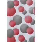 Tapéta duplex Körök 3D szürke-piros