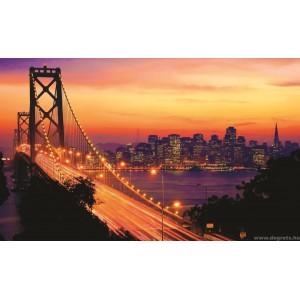 Fotótapéta Napnyugta San Francisco felett