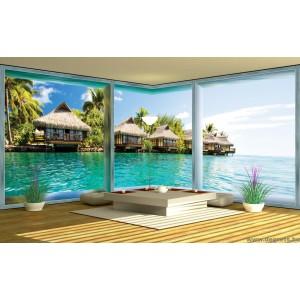 Fotótapéta Karibi  3D panoráma  3XL Vlies