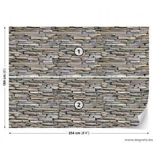 Fotótapéta Fal  kő 2 3D