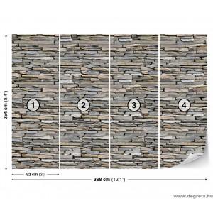 Fotótapéta Fal  kő 2 3D XL
