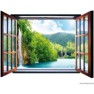 Fotótapéta Vízesés 3D ablak  Vlies
