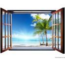 Fotótapéta Hawaii 3D ablak  Vlies