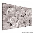 Vászonkép Egy csokor fehér rózsa