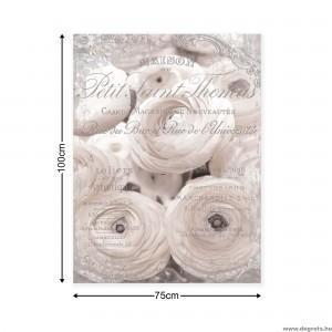Vászonkép fehér rózsák - Vintázs  3D L