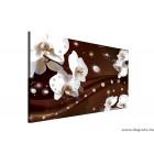 Vászonkép absztrakció orchideák 1 3D L