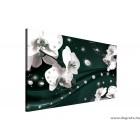 Vászonkép absztrakció orchideák 5 3D L