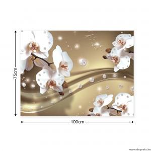 Vászonkép absztrakció orchideák 6 3D L