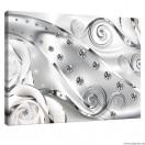 Vászonkép fehér virágos gyémánt 3D L