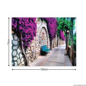 Vászonkép lila átjáró