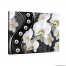 Vászonkép absztrakció orchideák 7 3D