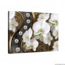 Vászonkép absztrakció orchideák 8 3D