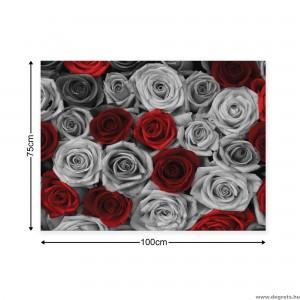 Vászonkép rózsák piros - szürke