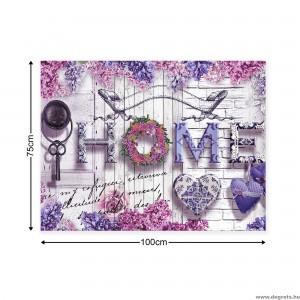 Vászonkép Hangulatos otthon  lila L