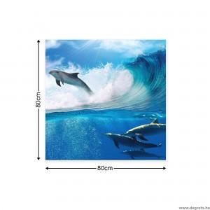 Vászonkép Delfinek a tengerben