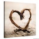 Vászonkép Szőtt szív
