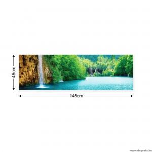 Vászonkép Vízesés a tónál XL
