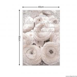 Vászonkép fehér rózsák - Vintázs  3D S