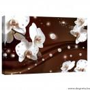Vászonkép absztrakció orchideák 1 3D S