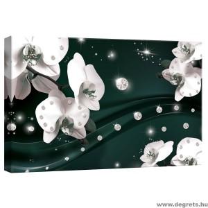 Vászonkép absztrakció orchideák 5 3D S