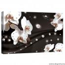 Vászonkép absztrakció orchideák 2 3D S