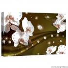 Vászonkép absztrakció orchideák 4 3D S