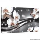 Vászonkép absztrakció orchideák 3 3D S