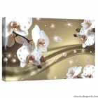Vászonkép absztrakció orchideák 6 3D S