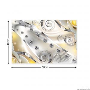 Vászonkép sárga virágos gyémánt 3D S