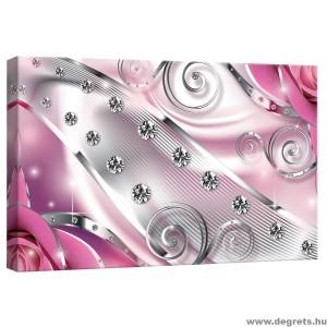 Vászonkép rózsaszín Virágos gyémánt 3D S