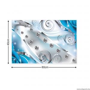 Vászonkép kék Virágos gyémánt 3D S