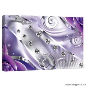 Vászonkép lila Virágos gyémánt 3D S