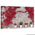 Vászonkép Fal  piros virágokkal  1 S