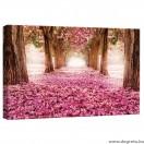 Vászonkép rózsaszín út  S