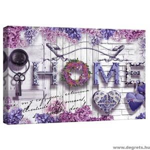 Vászonkép Hangulatos otthon  lila S