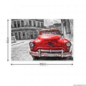 Vászonkép Retro autó - piros 2